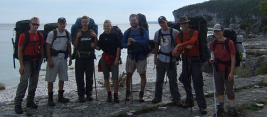 Backpacking students